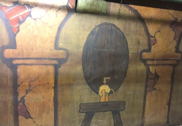 Prohibition art mural found during Cartwheel Arts' exclusive