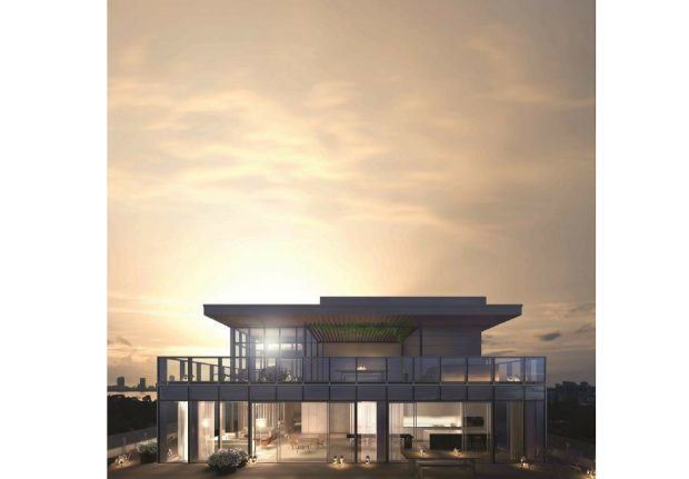 EDITION Miami Residence exterior at sunset